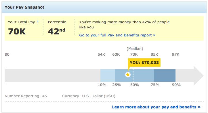 Your Salary Report Screenshot