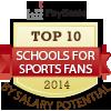 top ten schools for sports fans